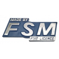Emblemat do Malucha Maluch znaczek Made by FSM Fiat licence