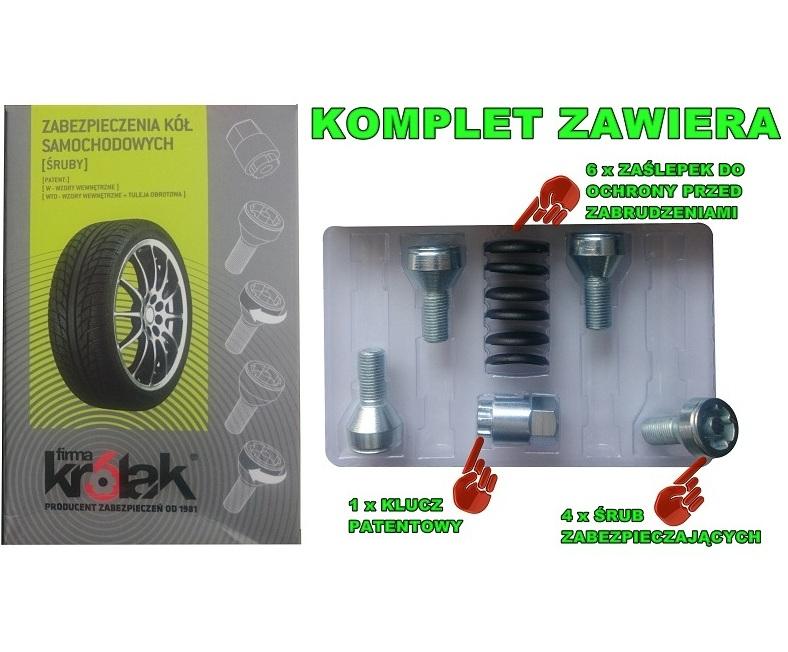 Zabezpieczenia Kół śruby Z417n Bmw 3 E21 E30 E36 E46 E90